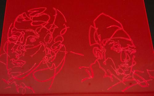Friends in red